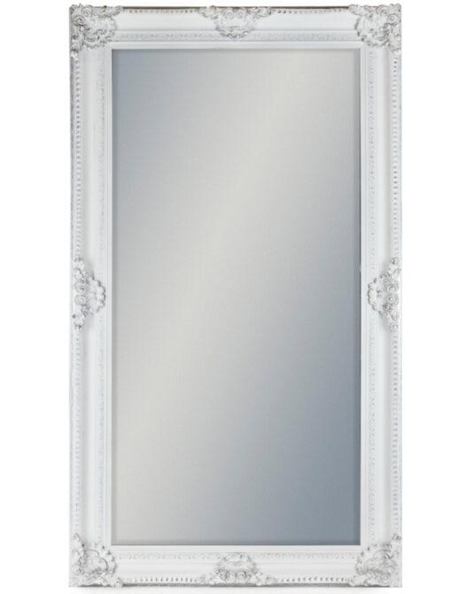 Large White Rectangular Classic Mirror