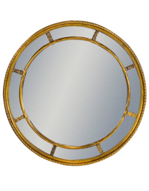 Gold Round Multi Mirror