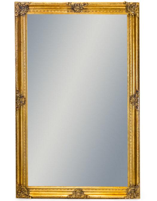 Extra Large Gold Rectangular Classic Mirror