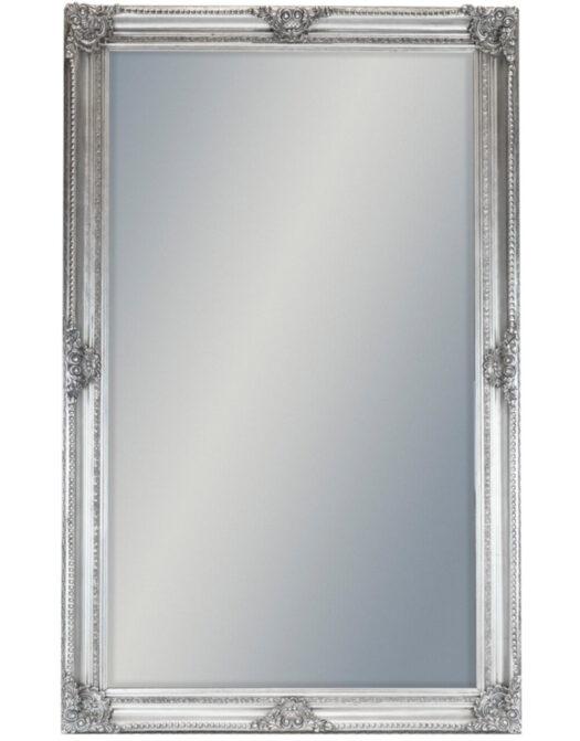 Extra Large Silver Rectangular Classic Mirror