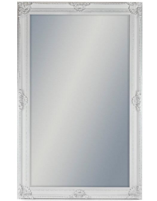 Extra Large White Rectangular Classic Mirror