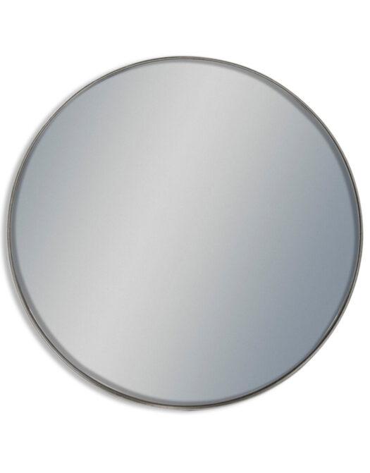 Giant Round Silver Framed Arden Wall Mirror