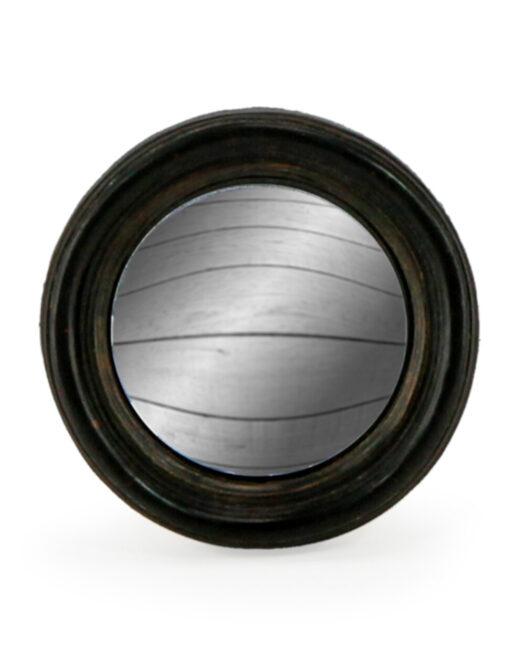 Antiqued Black Thin Framed Extra Small Convex Mirror