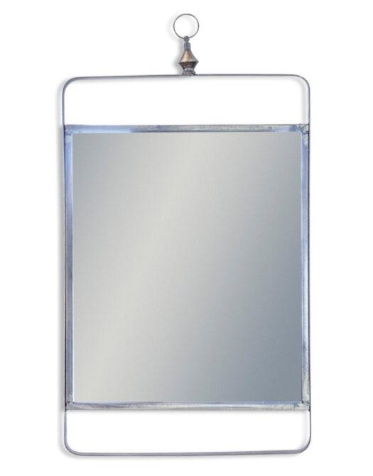 Industrial Portrait Black Metal Framed Mirror