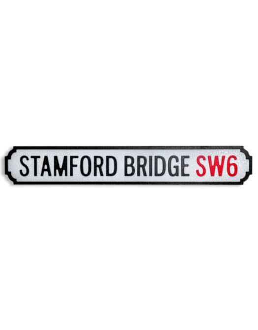 "Antiqued Wooden Stamford Bridge SW6"" Road Sign"""