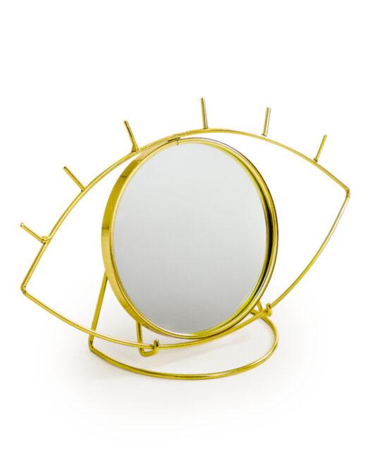 Metallic Gold Eye Table Mirror