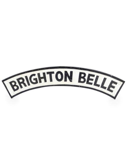 """Cast Iron Antiqued Brighton Belle"""" Railway Sign"""""""