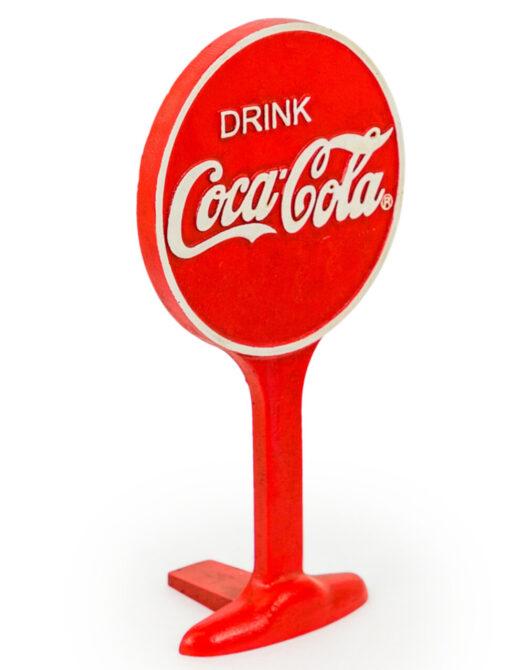 Cast Iron Antiqued Cola Door Stop