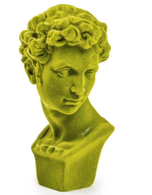 Olive Green Flock Classic Bust Figure