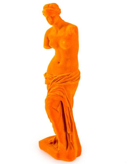 Bright Orange Flock Venus De Milo Figure