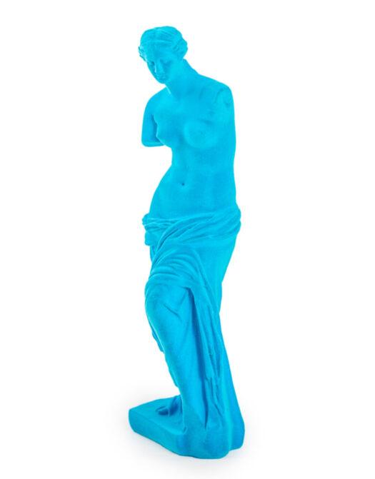 Teal Flock Venus De Milo Figure