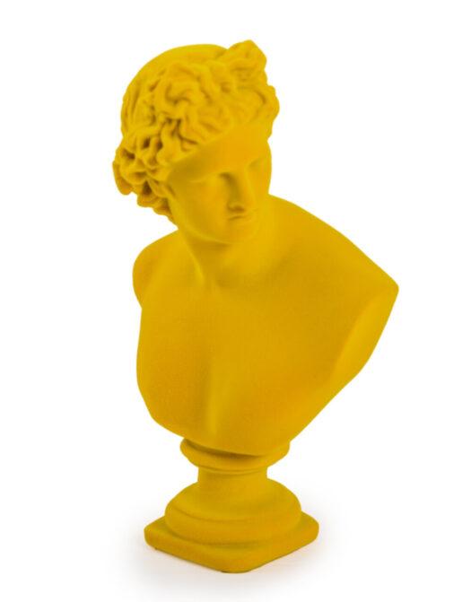 Bright Yellow Flock Large Apollo Bust