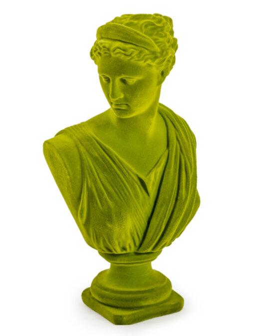 Olive Green Flock Large Artemis Bust