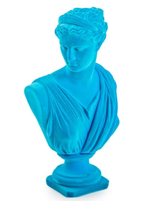 Teal Flock Large Artemis Bust