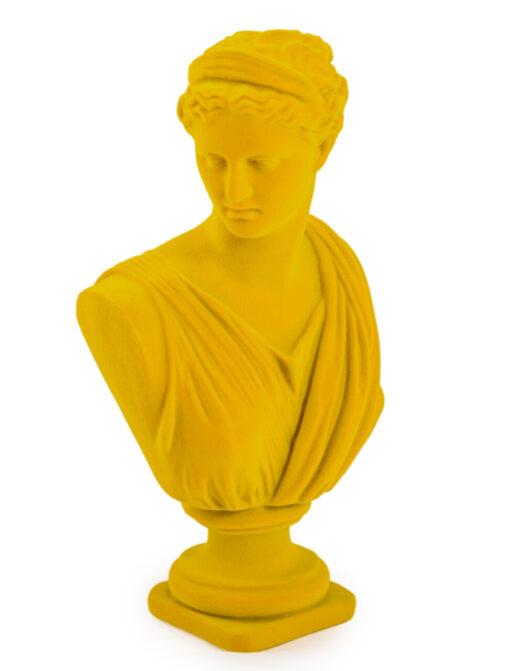 Bright Yellow Flock Large Artemis Bust