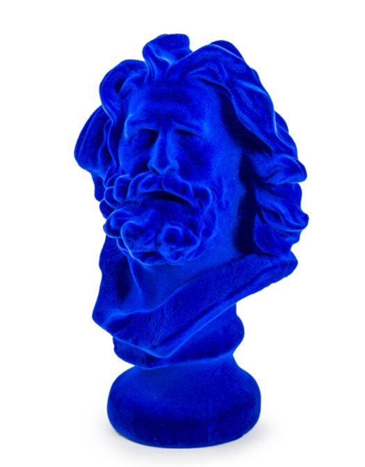 Cobalt Blue Flock Marseillaise Bust