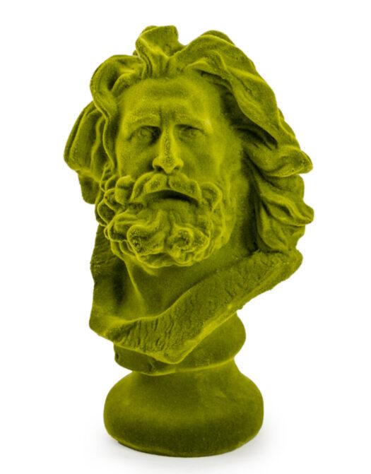 Olive Green Flock Marseillaise Bust