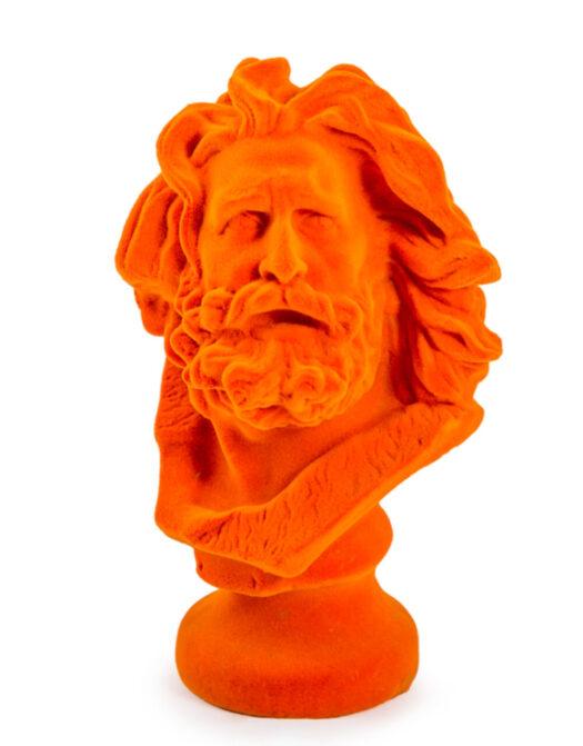 Bright Orange Flock Marseillaise Bust