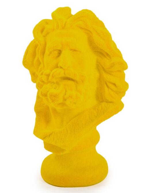 Bright Yellow Flock Marseillaise Bust