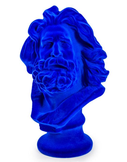 Cobalt Blue Flock Large Marseillaise Bust