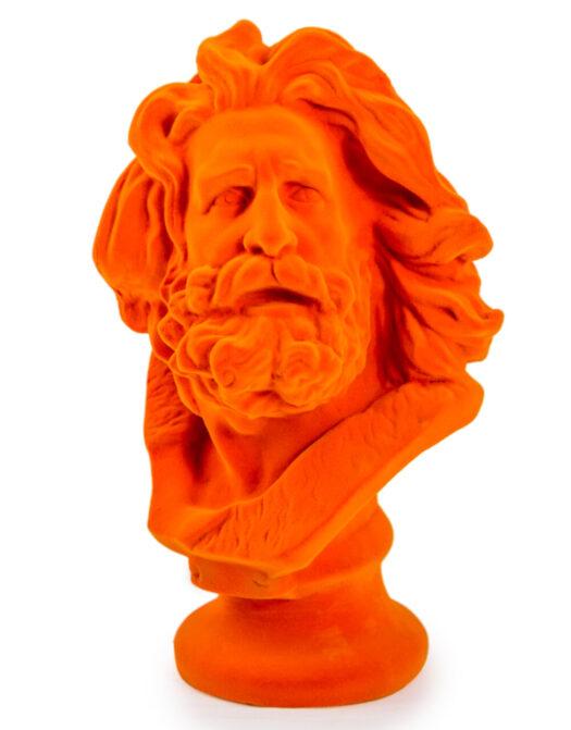 Bright Orange Flock Large Marseillaise Bust