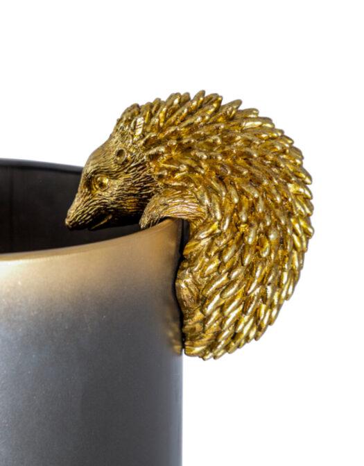 Antique Gold Hanging Hedgehog Pot Decor