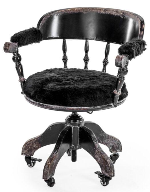 "Black Metal Verne"" Traditional Swivel Desk Chair"""