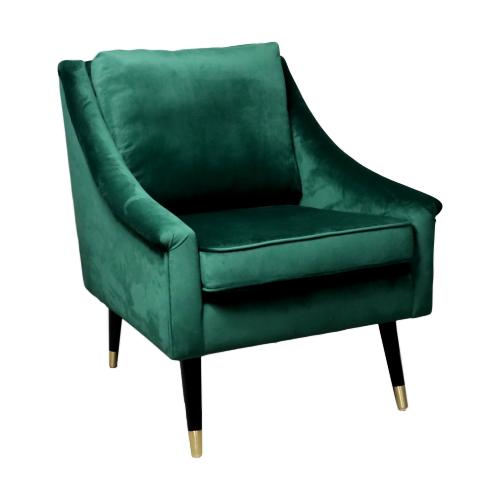 Native Green Velvet Armchair