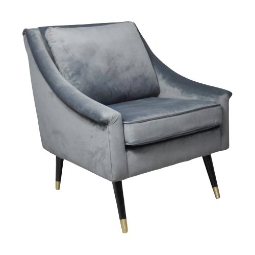 Native Grey Velvet Armchair