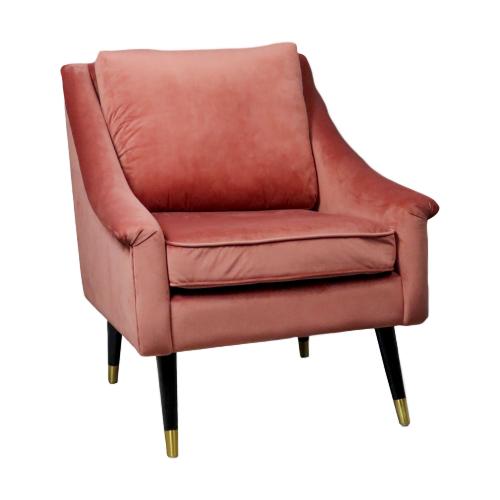Native Rose Velvet Armchair